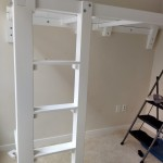 The frame in place.