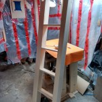 The ladder constructed. This was very 'over-engineered' as it is the only freestanding component.